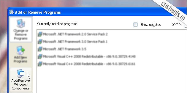 Add/Remove Windows Components