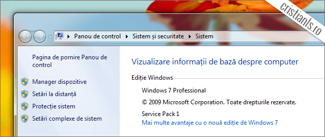 Windows 7 în limba română