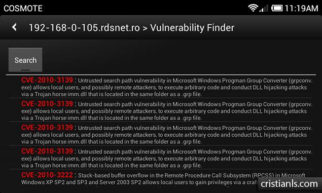 Vulnerability Scanner - dSploit