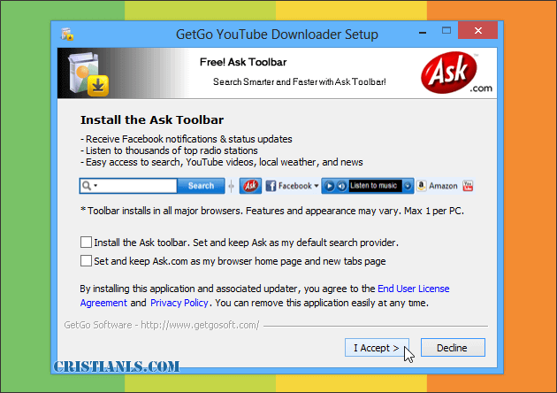 Ask toolbar