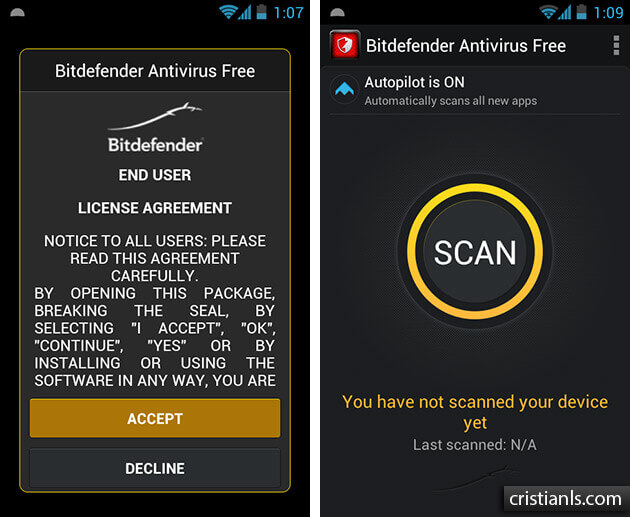 Bitdefender Antivirus Free pentru Android