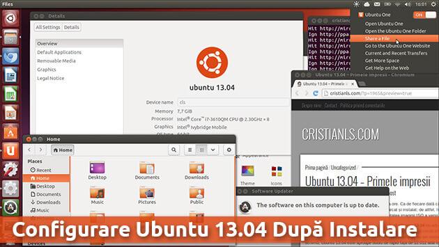 Configurare Ubuntu 13.04