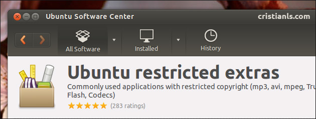 Ubuntu restricted extras