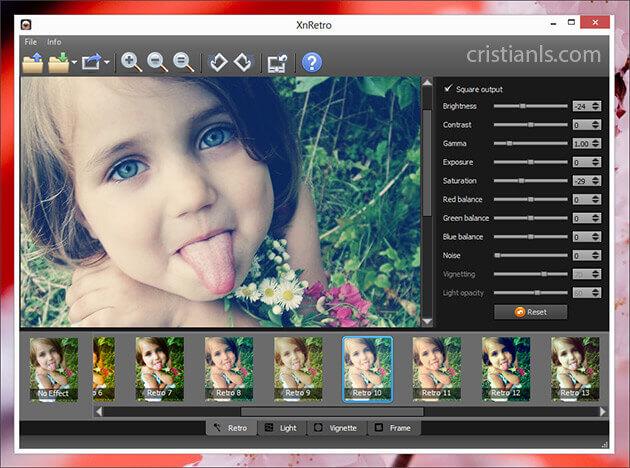 XnRetro: aplică efecte retro pozelor