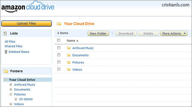 Amazon Cloud Drive - Web