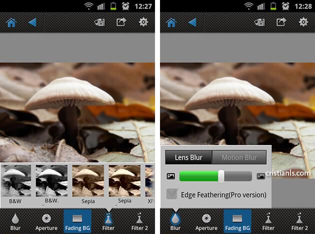 AfterFocus pentru Android - filtre creative