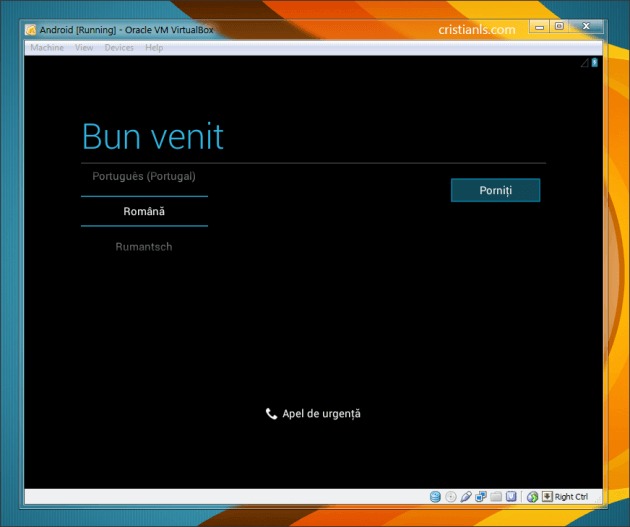 Android in VirtualBox