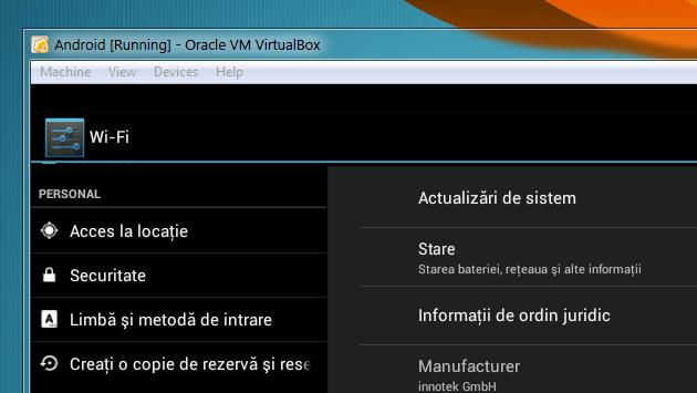 Cum se instalează Android în VirtualBox