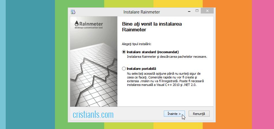 Instalare Rainmeter