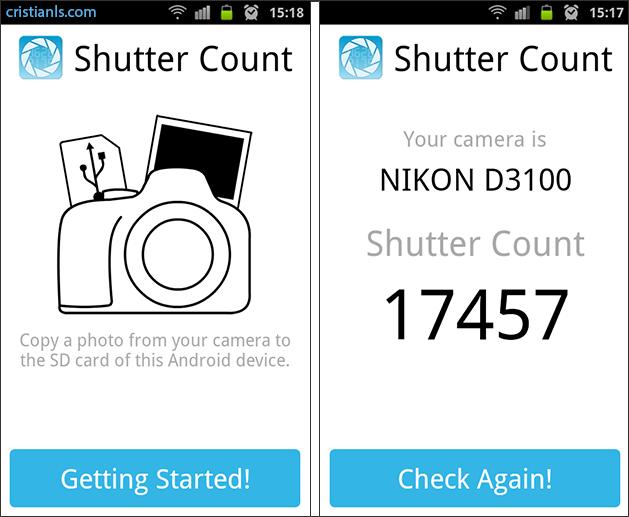 Numărul fotografiilor făcute cu aparatul foto DSLR