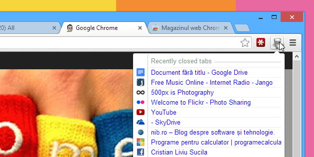 Closed tabs