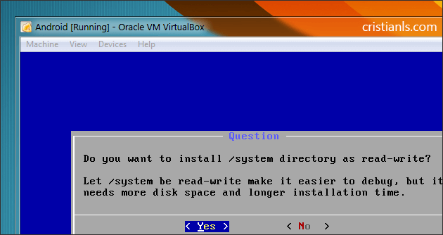 system directory as read-write
