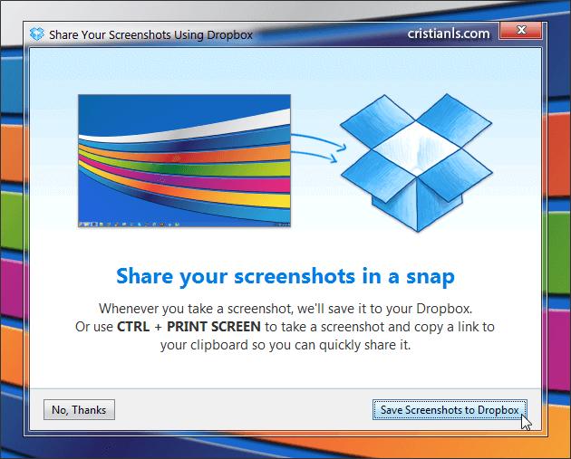 Noul Dropbox: partajare screenshot