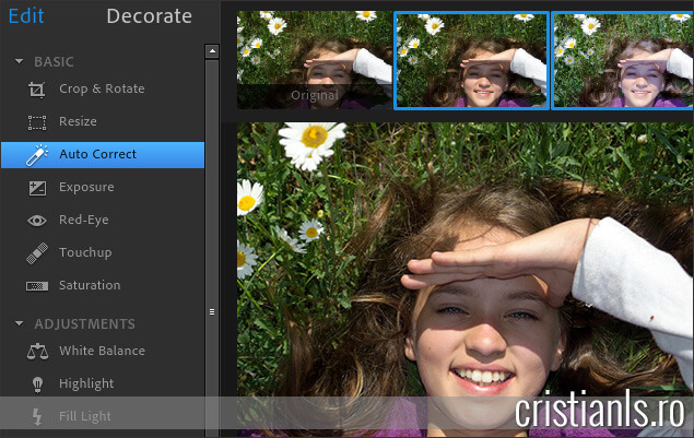 Programe de modificat poze online - Photoshop Express