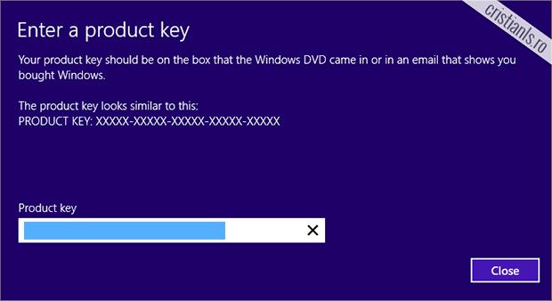 Enter a product key