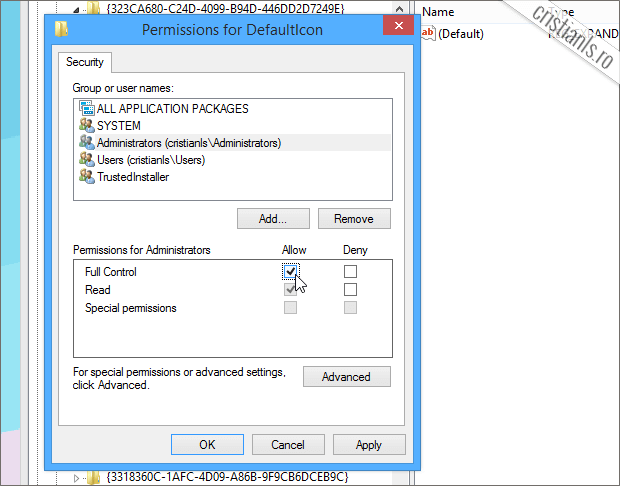 Permissions for Administrators