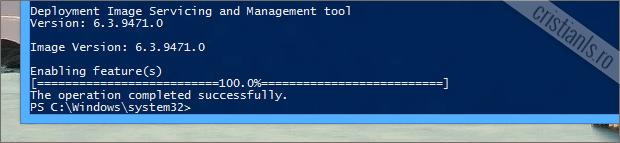 Remediu eroare la instalarea .NET Framework 3.5 in Windows 8