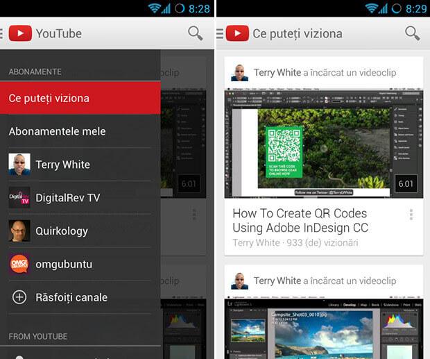 YouTube pentru Android