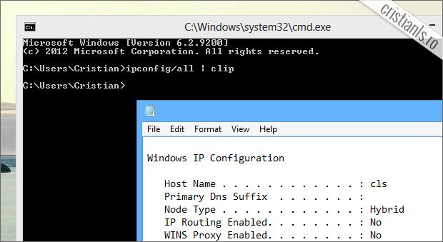 copiere automata informatii CMD