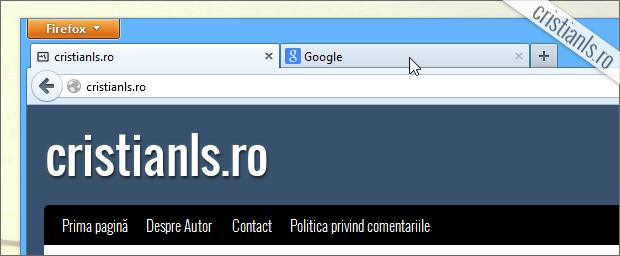 inchidere tab click centru