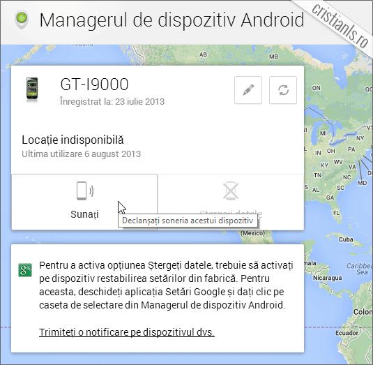recuperare smartphone android furat