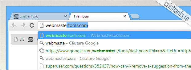 sugestii google chrome