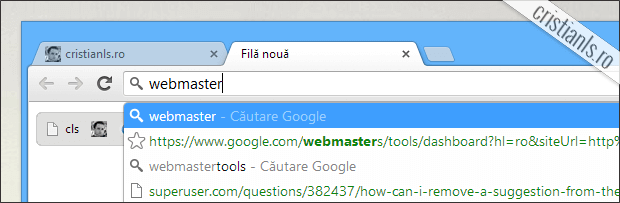 sugestiile google chrome au fost eliminate
