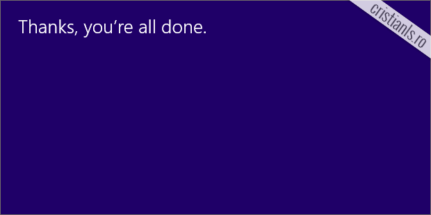 thanks, you're all done