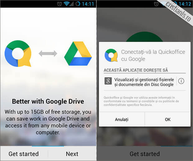 Quickoffice si 10GB spatiu pe Google Drive