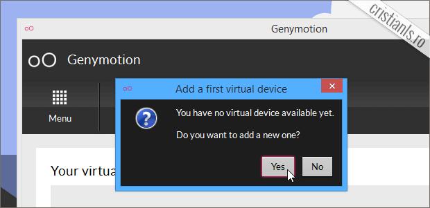 creare masina virtuala pentru android