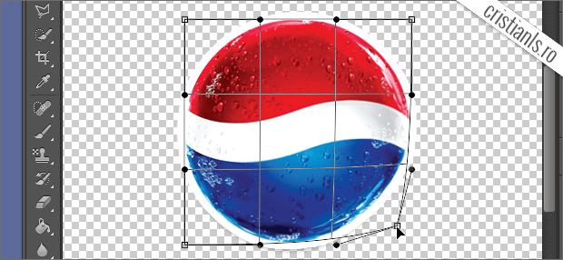deformare logotip cu warp