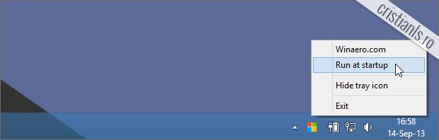 porneste StartIsGone odata cu sistemul de operare windows 8.1