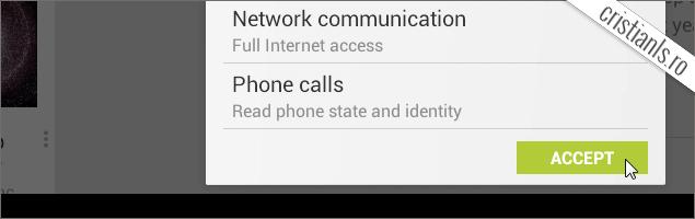 Acceptati permisiunile necesare folosirii aplicatiei WhatsApp Messenger