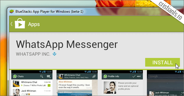 Instalare WhatsApp Messenger