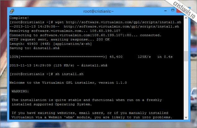 Instalare Virtualmin in CentOS