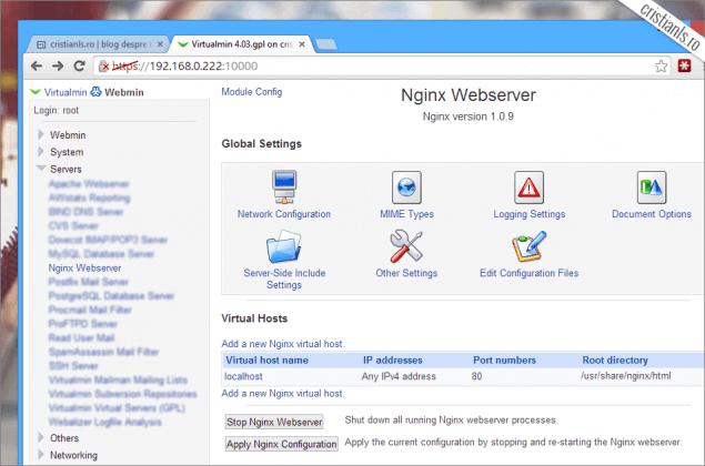 Nginx Virtualmin CentOS