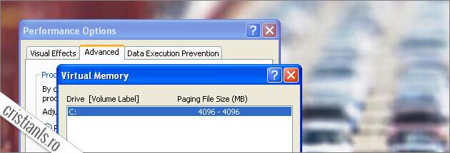 memoria ram alocata windows xp