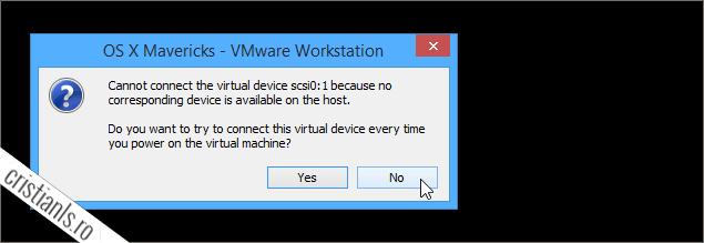 nu se poate conecta dispozitiv inexistent