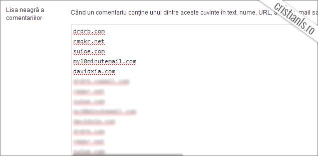 blacklist wordpress