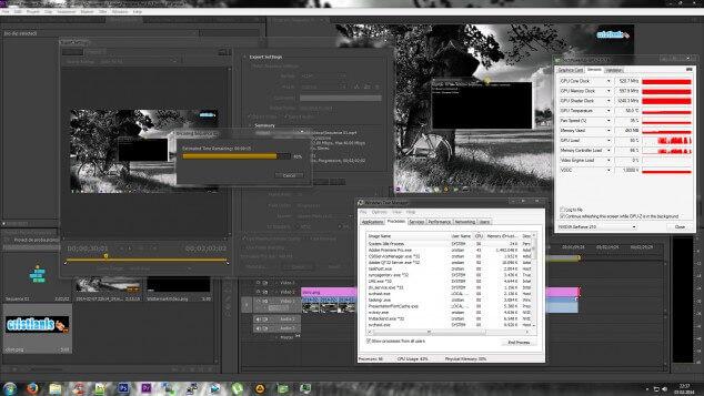 randare video având accelerarea hardware activata premiere pro