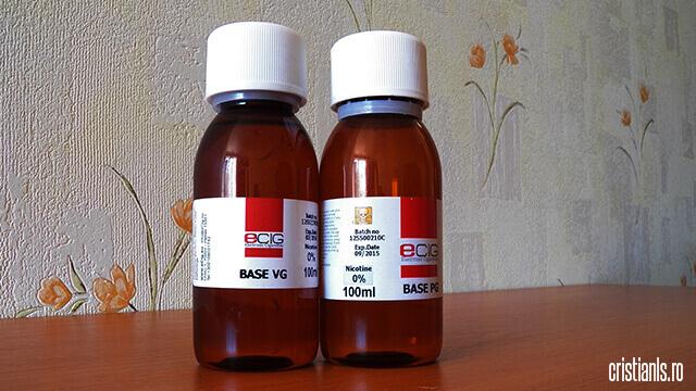 baze pentru lichidele pentru tigara electronica