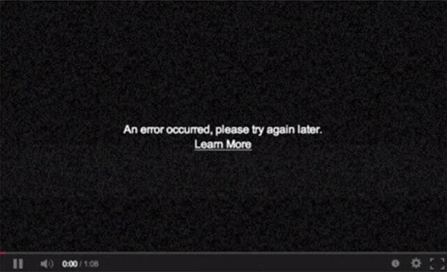 youtube eroare