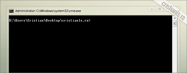 Command prompt deschis in folder