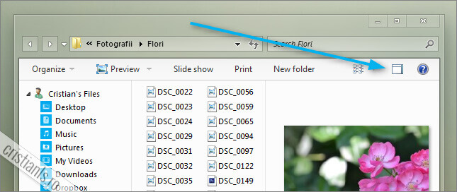 Hide the preview pane