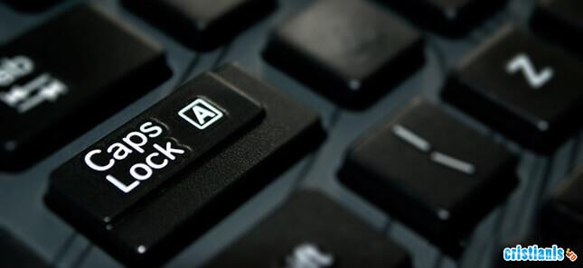 dezactiveaza tasta caps lock