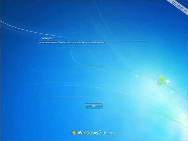 mesaj personalizat windows
