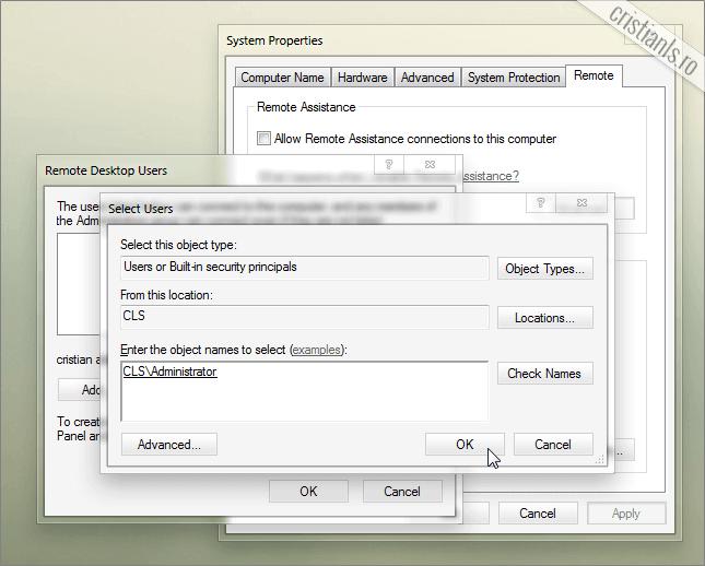 Remote Desktop Users Administrator