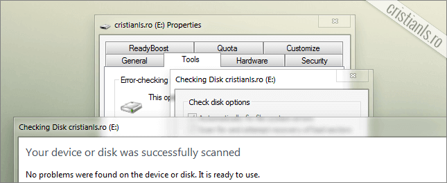 Your device or disk was successfully scanned