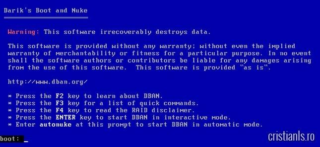 program de formatat hard disk