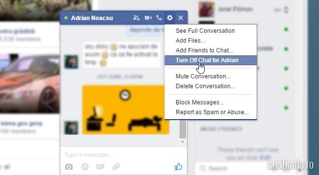 invizibil pentru un anumit prieten de pe facebook
